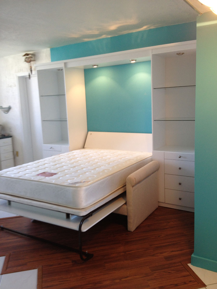 Murphy bed over sofa gallery