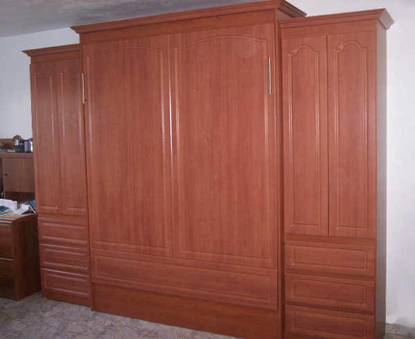 panel bed with thermo foil and crown molding